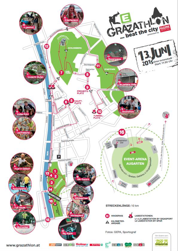 Grazathlon 2015 Strecke