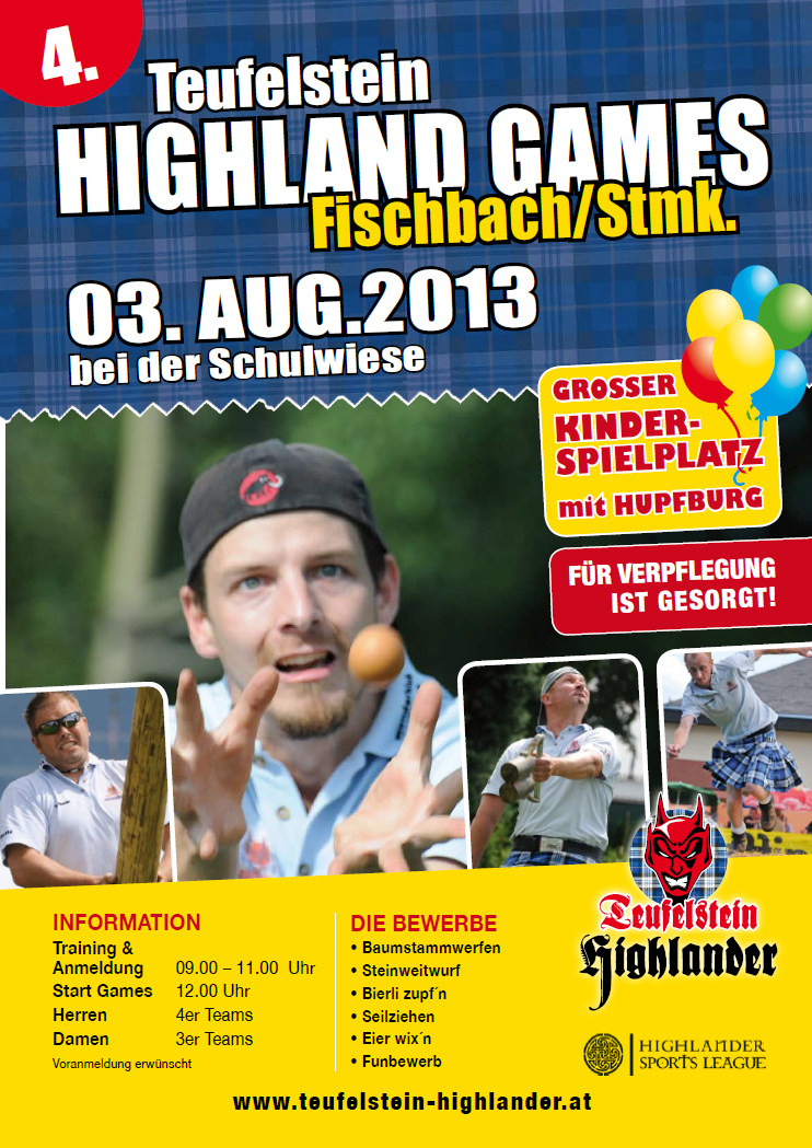 Flyer 4. Highlaandgames 2013
