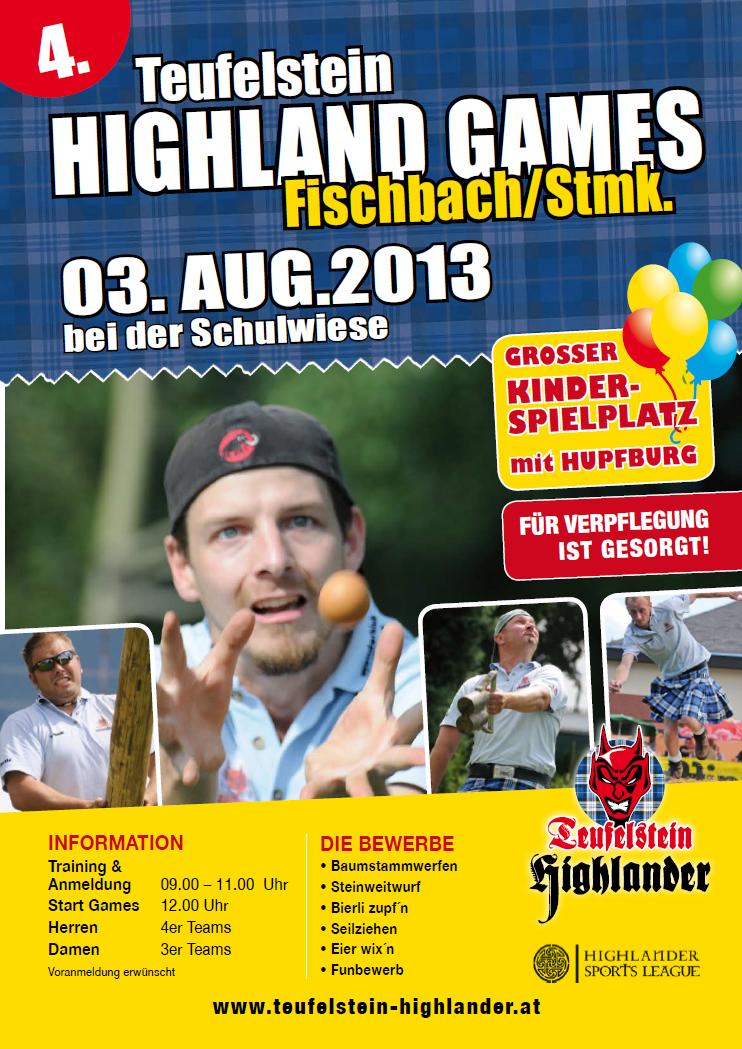 Flyer 4. Highlaandgames 2013